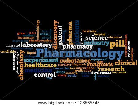 Pharmacology, Word Cloud Concept 8