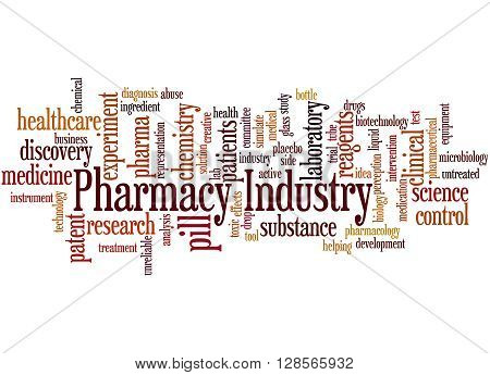 Pharmacy Industry, Word Cloud Concept 3