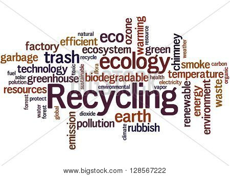 Recycling, Word Cloud Concept 7