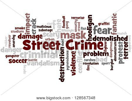 Street Crime, Word Cloud Concept