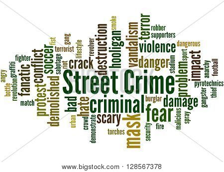 Street Crime, Word Cloud Concept 4