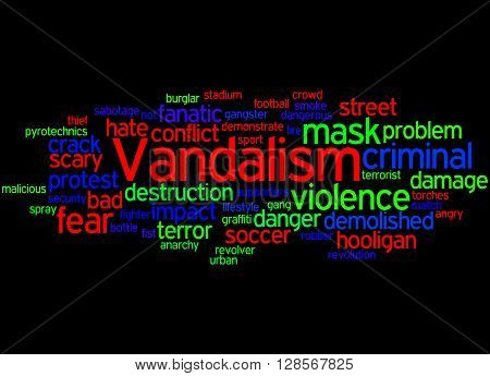 Vandalism, Word Cloud Concept 8