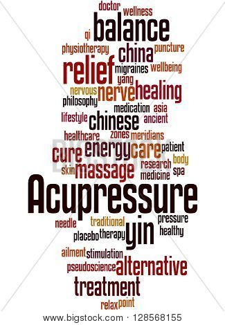 Acupressure, Word Cloud Concept 8