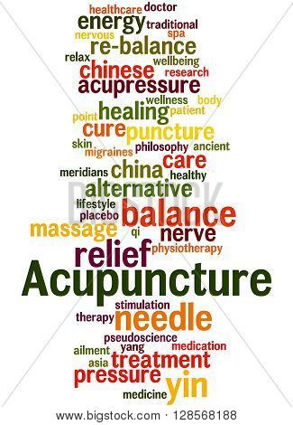 Acupuncture, Word Cloud Concept