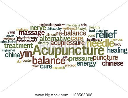 Acupuncture, Word Cloud Concept 8
