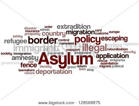 Asylum, Word Cloud Concept 9