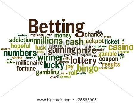 Betting, Word Cloud Concept