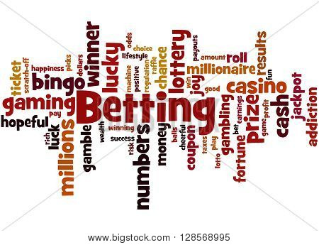 Betting, Word Cloud Concept 7