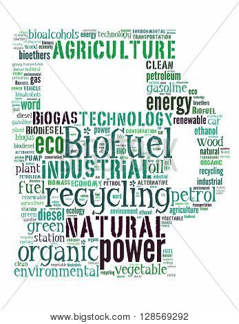 Biofuel Station, Word Cloud Concept 3