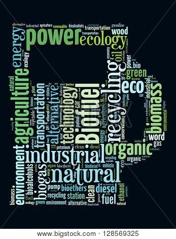Biofuel Station, Word Cloud Concept 5