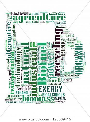Biofuel Station, Word Cloud Concept 9