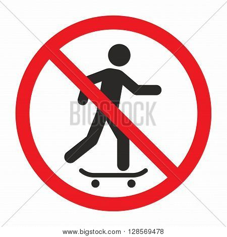 No skateboarding sign, area where skateboarding is not allowed