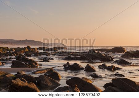 Sunset Over The Pacific Ocean Ecuador South America