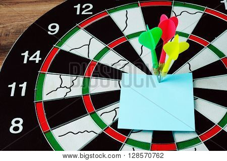 Darts And Bull Eyes With Blank Paper