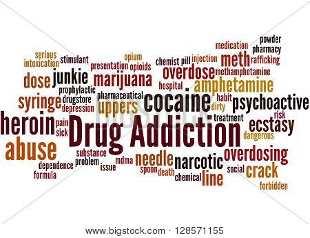 Drug Addiction, Word Cloud Concept 3