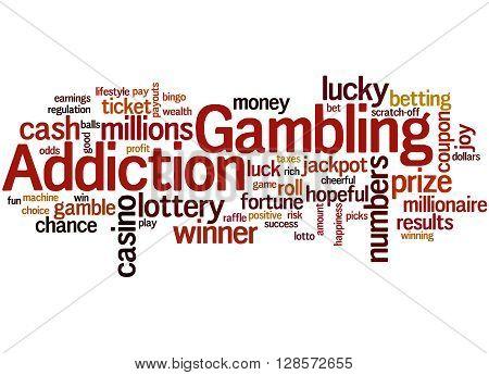 Gambling Addiction, Word Cloud Concept 10