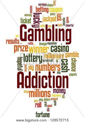 Gambling Addiction, Word Cloud Concept 4