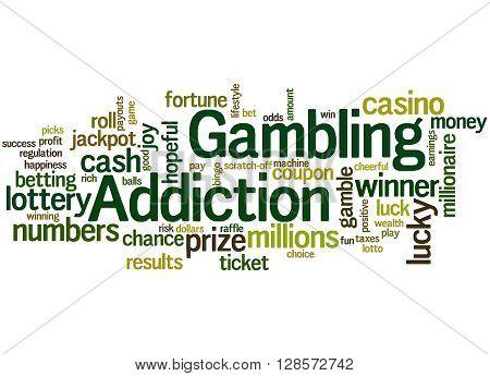 Gambling Addiction, Word Cloud Concept 6