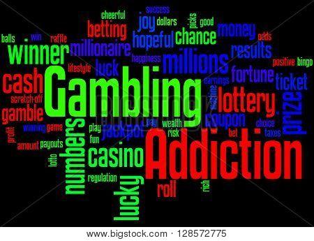 Gambling Addiction, Word Cloud Concept 8