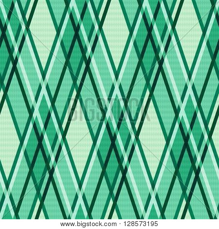 Emerald Hues Seamless Rhombic Pattern
