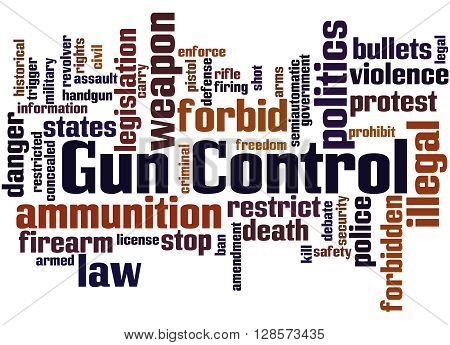 Gun Control, Word Cloud Concept 5