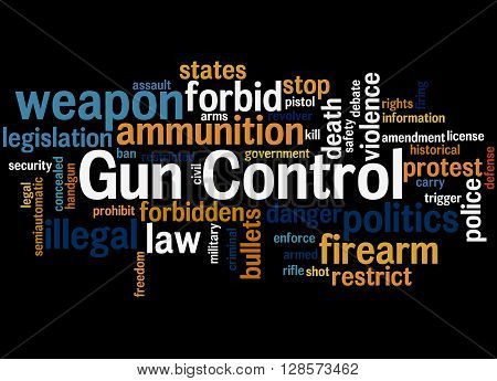 Gun Control, Word Cloud Concept 7