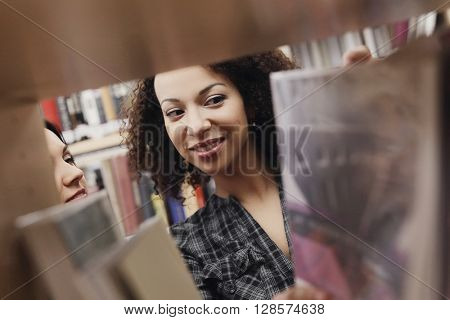 Education, study. Women in library
