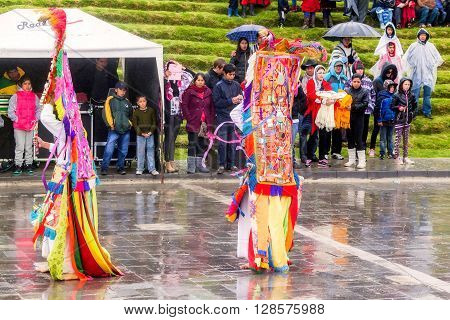 Ingapirca Ecuador - 20 June, 2015: Inti Raymi Festival The Time Of Reunion With The Family The Community And Mother Earth In Ingapirca, Ecuador On June 20 2015