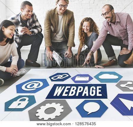 Webpage Internet Online Business Concept