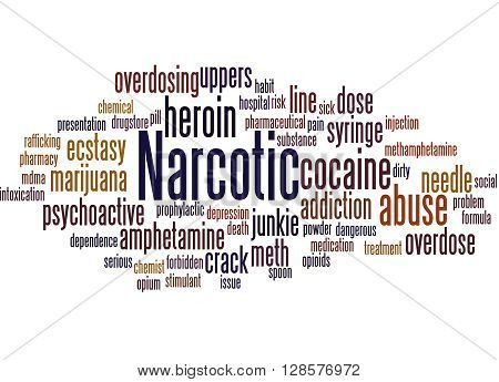 Narcotic, Word Cloud Concept 7