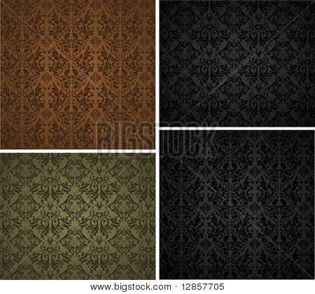 Set of seamless wallpaper pattern