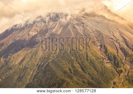 Large Plume Of Ash And Steam From The Tungurahua Volcano South America