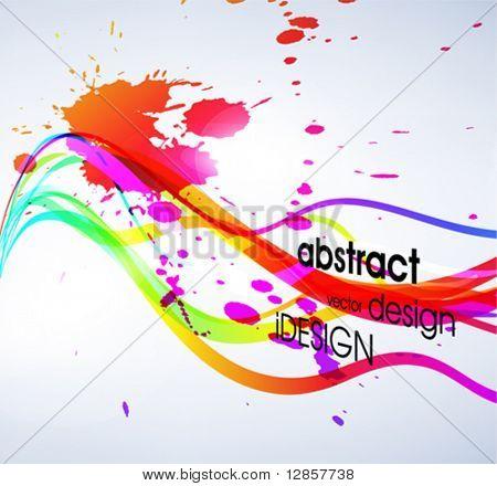 Abstrakt farbigen Hintergrund. Vektor.