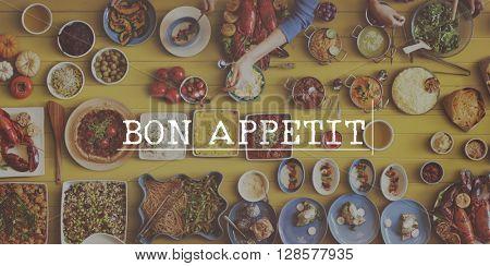 Bon Appetit Restaurant Meal Menu Concept
