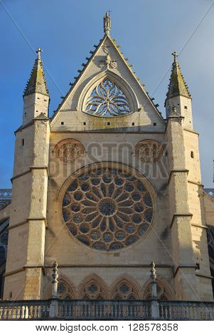 Rose Window In Leon Cathedral