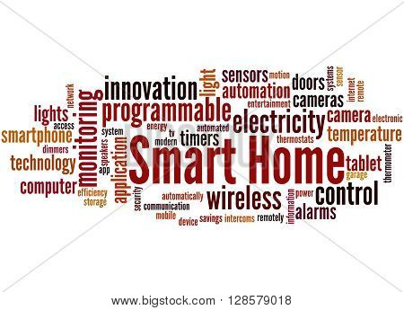 Smart Home, Word Cloud Concept 9