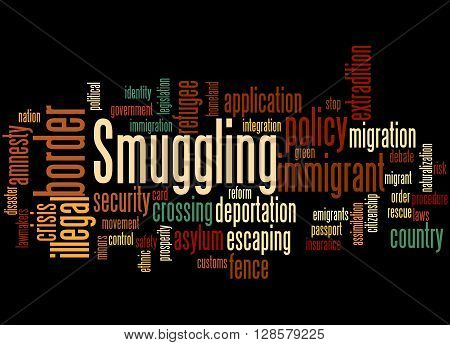 Smuggling, Word Cloud Concept 3