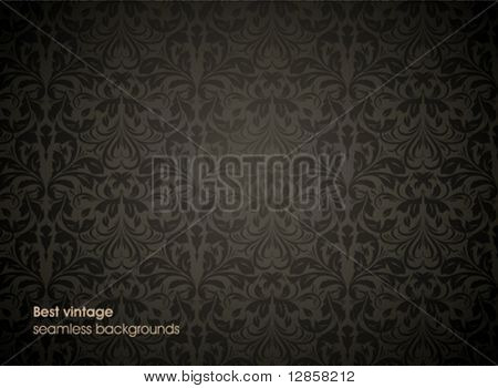 Damask seamless vector background. For easy making seamless pattern.