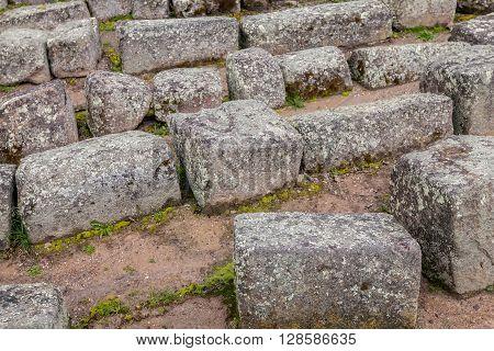 Inca Architecture Ingapirca Archeological Site Ecuador South America