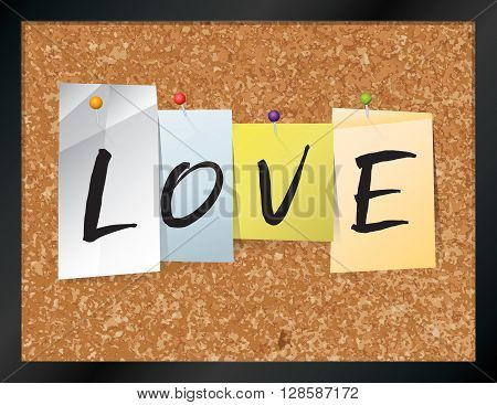 Love Bulletin Board Theme Illustration