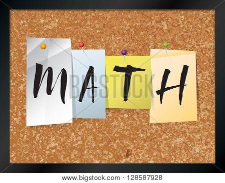 Math Bulletin Board Theme Illustration