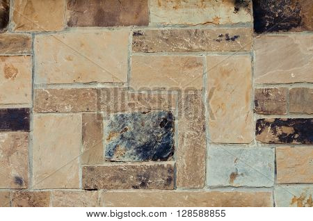 Background texture of flagstone stacked close up.