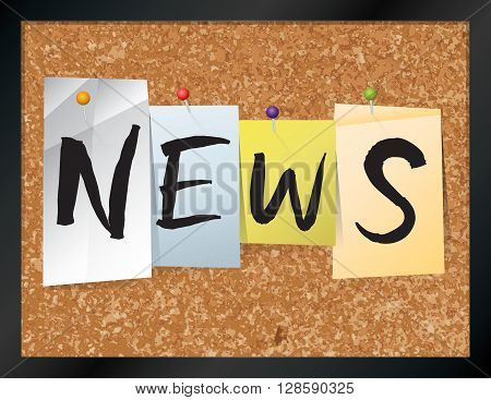 News Bulletin Board Theme Illustration