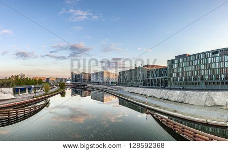 River Spree And Office Building Of The German Parliament - Berlin