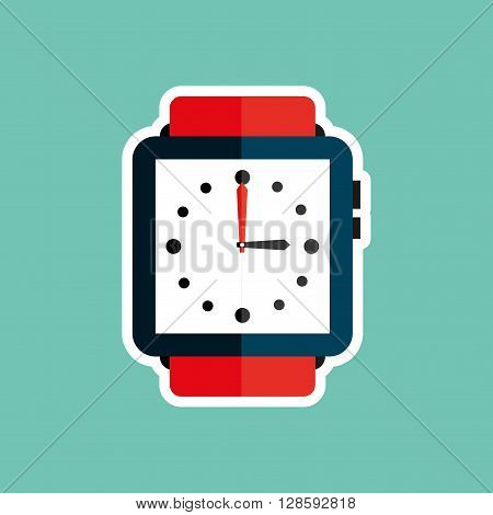 wristwatch elegant design, vector illustration eps10 graphic