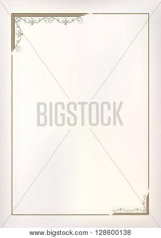Vector vintage border frame