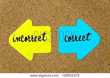 Message Incorrect Versus Correct