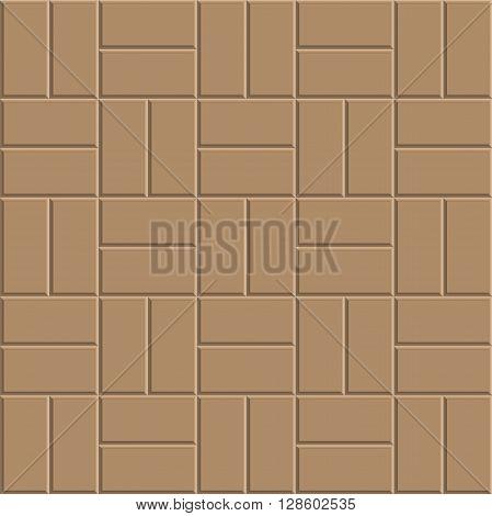 clay brick stone floor pattern pavement design vector