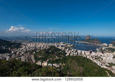 Rio de Janeiro Skyline with Sugarloaf Mountain