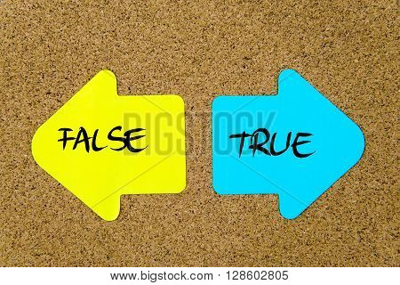 Message False Versus True